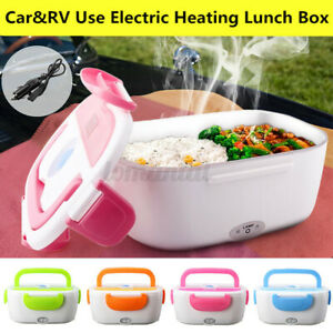 12V Portable Electric Heated Heating Lunch Box Bento For Car Travel Food A+