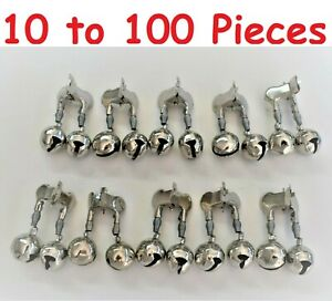 10-100 Pieces Fishing Double Spring Clip Design Bells Twin Alarm Bells Rings Rod