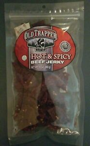 (Set of 6 Bags) Old Trapper Hot & Spicy Beef Jerky, 10 oz each. EXP 8/2021+