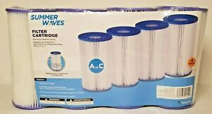 (Quick Ship) 4 Pack Summer Waves Pool Filter Cartridge Type A or C Type NEW