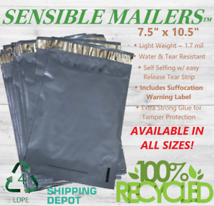 Eco Friendly Poly Mailer Envelopes by Sensible Mailers� 100% Recycled Material $14.50