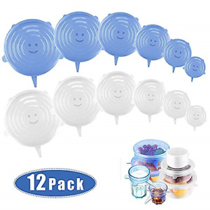 Stretchable Silicone Lid - ZJMZZM 12 Pieces Silicone Stretch Lid Stretch Lid in