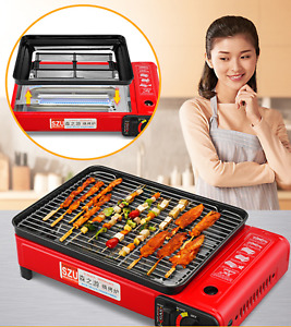 17quot; Portable Large Smokeless BBQ Grill Gas Stove tabletop Outdoor Home Picnic US $51.29