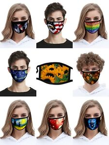 Unisex Face Mask Reusable Washable Cover Masks Style Fashion Cloth Men Women USA