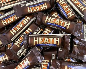 Heath Snack Size Milk Chocolate English Toffee Candy Bars, Bulk - 2 Pound Bag