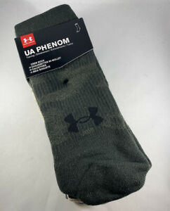 Under Armour UA Phenom Crew Socks 3 Pack Men's Size L 1329330 $14.99