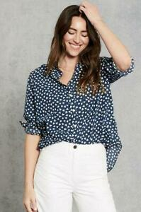 frank Eileen Cotton Navy White Hearts XXS $99.99