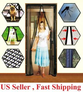 Hands Free Magnetic Screen Door Mesh Net BLOCK Mosquito Fly Insect Bug Curtain