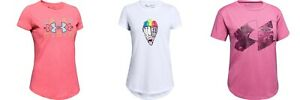New Under Armour Girls Graphic Print Short Sleeves Shirt Choose Size and Color $9.99
