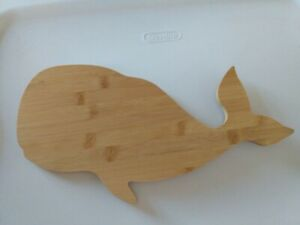 Whale Shaped Wooden Cutting Board Cheese Board
