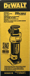 Dewalt DCS551B 20 volt Cordless Drywall Cut Out Rotary Tool New 2 DAY SHIPPING