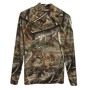 Mens Medium Under Armour Realtree Camo Cold Gear Compression L S Hunting Shirt $19.99