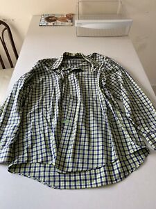 Brooks Brothers Regent Button Down Sport Shirt Green Size Large $4.00