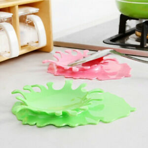 Durable Solid Color Splash Drop Soup Ladle Rack Holder Kitchen Accessories Candy