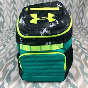 Under Armour Storm HeatGear Youth Unisex UA Large Fry Backpack, Black Green, 008 $39.99