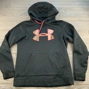 *Under Armour Storm Womens Hoodie Sweatshirt Small Semi Fitted Black $17.99