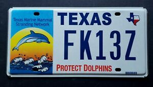Texas PROTECT WILDLIFE DOLPHINS FISH MAP License Plate