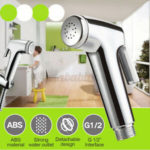 ABS Hand Held Bidet Spray Toilet Attachment Diaper Sprayer Hose Holder Bathroom