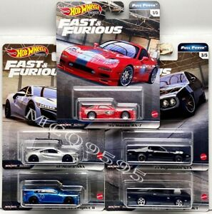 HOT WHEELS 2020 FAST & FURIOUS PREMIUM FULL FORCE COMPLETE SET OF 5 CAR IN STOCK