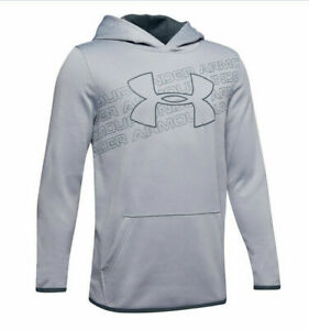 New Under Armour Armour Boys Logo Hoodie Size XL MSRP $40.00 $24.99