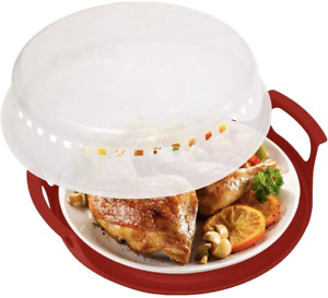 2 Sets Microwave Cover and Plate Caddy Anti-Splatter Guard