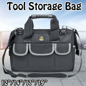 12-17inch Wide Mouth Tool Storage Bag Heavy Duty Oxford Cloth Water Resistant
