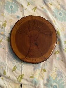 Serving Board Wooden  Tree Wood burning Pyrography