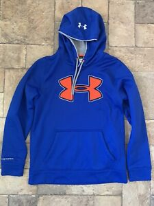a00039 Under Armour Loose Fit Mens Size Small Long Sleeve Hoodie BLUE $20.00