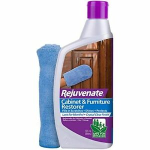 Rejuvenate Cabinet Furniture Restorer Fills In Scratches Seals Protects 13 Ounce