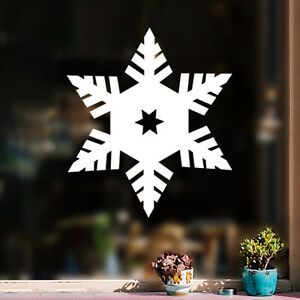 Vinyl Wall Art Decal - Set Of 3 Snowflakes - 23* x 20* - Modern Minimal Christma