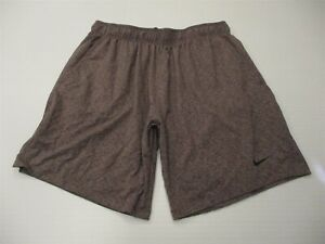 NIKE Mens Size XL DRI FIT Training Burgundy Spacedye Tech Stretch Running Shorts $19.60