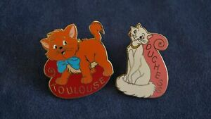 Disney#x27;s The Aristocats Toulouse and Duchess Pins Free Shipping USA $32.99