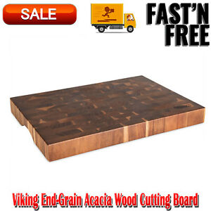 Viking End-Grain Acacia Wood Cutting Board, Durability, Carving Station, Beauty