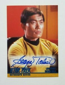 STAR TREK The Original Series TOS A4 Autograph Card Signed by George Takei Sulu