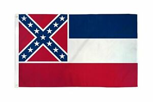 3x5FT Large Mississippi State Flag History Southern Banner MS Quick Ship