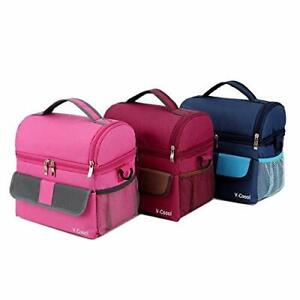Insulated Lunch bag: V Coool professional Double Deck Tote Outdoor Cooler bag