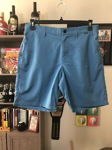 Hurley Dri Fit Stretchy Chino Shorts 32x8 Turquoise $30.00