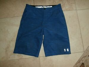 Boys UNDER ARMOUR Blue SHORTS Size Youth XL 14 $3.25