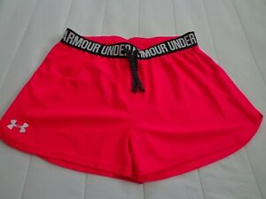 Under Armour Heatgear Loose Girls Hot Pink Shorts Youth Size XL $11.99