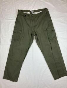 Columbia Pants Mens Cargo Dark Green with Utility Pockets Size 32 XL