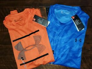 NWT Lot Of 2 Under Armour Mens Performance Short Sleeve Shirts XL $29.99