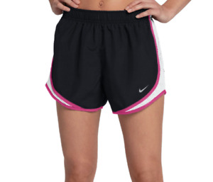Nike Shorts Womens Small to XL Black with Pink New Tempo Core 3 Inch Running $25.99