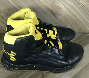 Under Armour SC Curry 3ZER0 Black Yellow Basketball Shoes Size 2.5Y 1276333 005 $27.00