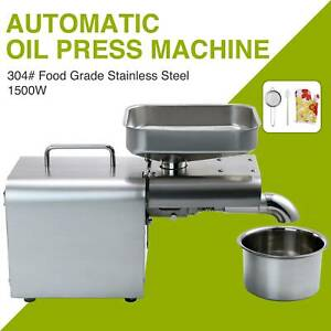 Auto Oil Press Machine Oil Extraction Extractor Expeller Olive Peanut Nuts Seeds