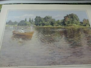 Vintage 1986 William Meritt Chase Museum of Fine Arts SUMMERTIME Lithograph $29.99