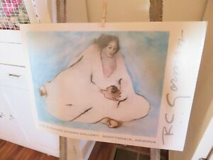 Vintage R.C. Gorman Mother w Baby Suzanne Brown Gallery Lithograph NEVER USED $39.99