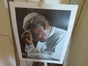 Vintage 2011 In Prayer Pope John Paul ll Shirley Morgan Print Large Lithograph 8 $19.99