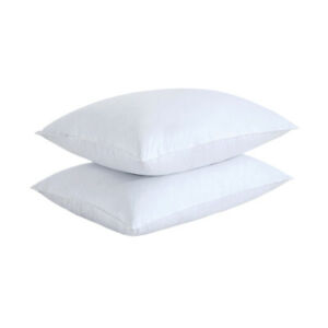 Feather Gray Goose Down Bed Pillow Set of 2 Pillows Bedding Set Queen King Size