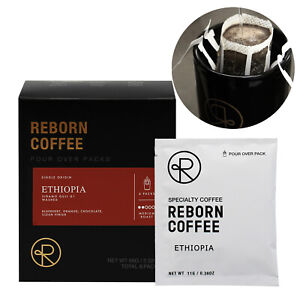 Pour Over Drip Bag Coffee Premium Roasted Specialty Coffee-Ethiopia 6 packs
