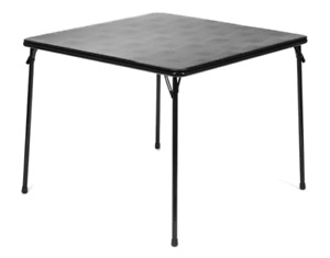 38quot; Vinyl Top Square Folding Card Table Wheelchair Accessible